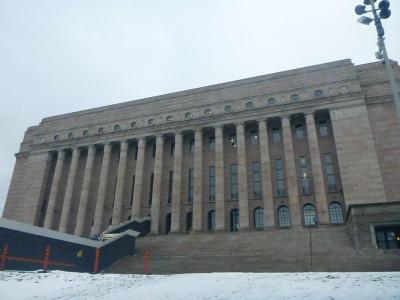 Parliament House in Helsinki, Finland