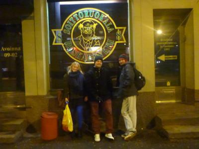 Outside Roskapanki Bar, Gallio, Helsinki, Finland.