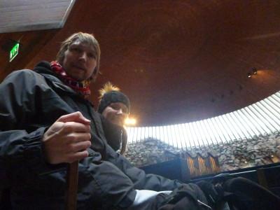 Inside Tuomiokirkko, Helsinki, Finland with Sofia