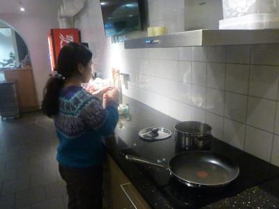 Cooking in Hostel Dalagatan