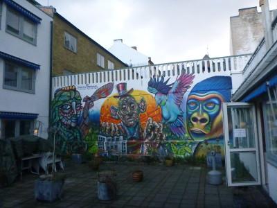 Outdoor Patio at STF Vandrarhem