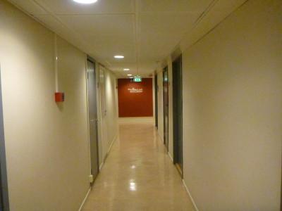Spacious corridors