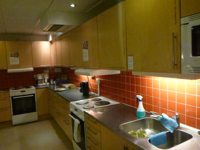 Fully equipped kitchen in the STF Vandrarhem