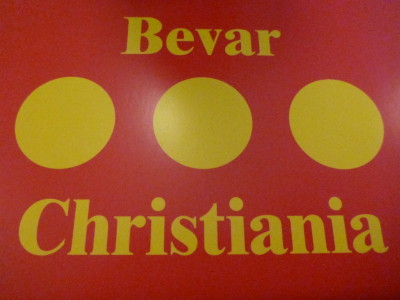 Bevar Christiania, the zany republic and freetown.