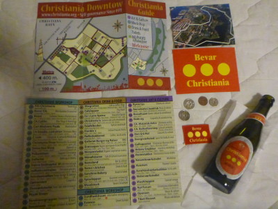 Map of the country, guidebook and souvenirs