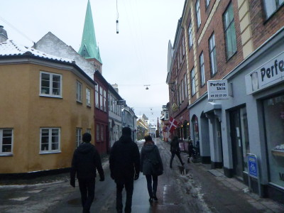 The streets of Helsingor, Denmark