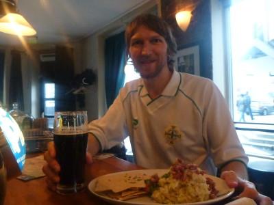 Enjoying my dear meal in Norway
