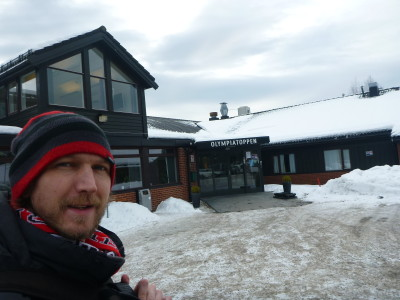 Outside the Olympiatoppen Sports Hotell