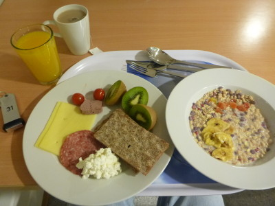 My healthy breakfast at Olympiatoppen Sport Hotell