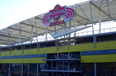 A Le Coq football stadium in Tallinn