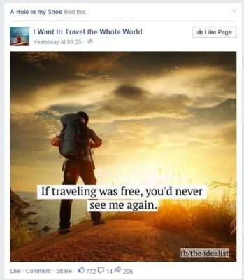 Fake Travel Page