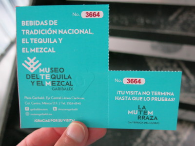Ticket for the Tequila museum includes tequila tasting.