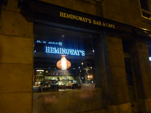 Hemingway's Bar and Cafe - my first stop in Finland