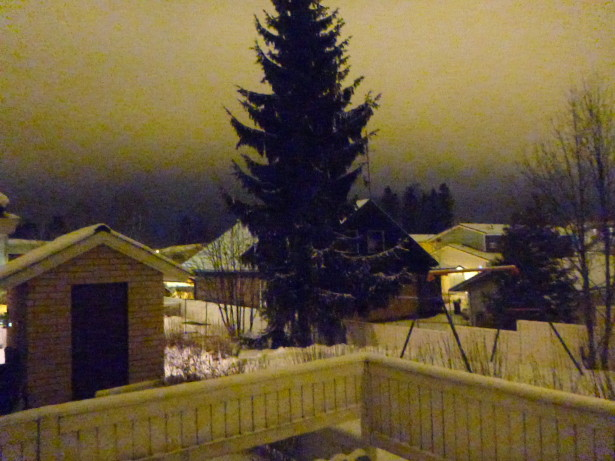 Gorgeous winter view from Sofia and Atte's House