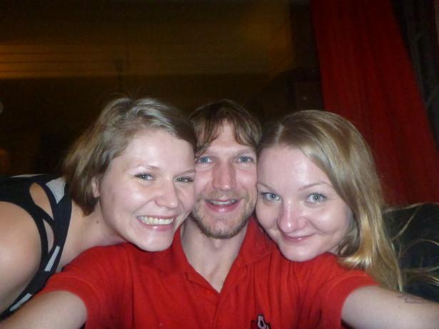 Smile girls! Sofia, Jonny, Karoliina (left to right)