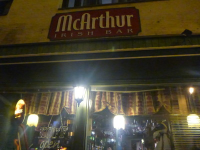 McArthur Irish Pub in Jarvenpaa, Finland.