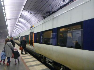 Leaving Malmo Station