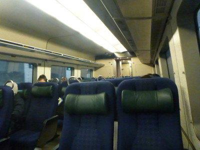 The train between Malmo in Sweden and Copenhagen in Denmark