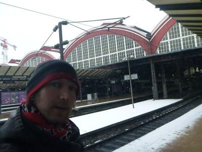 Arrival in Copenhagen main train station