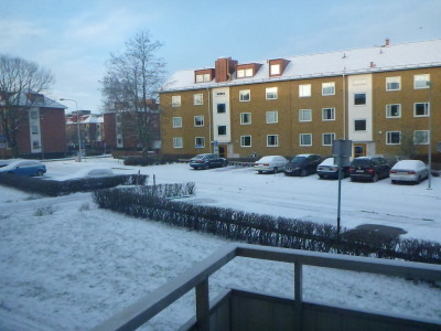 View from Daniel and Sofia's flat in Angelholm.