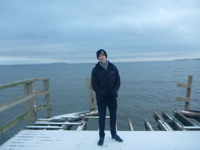 Daniel on the pier in Angelholm, Sweden.