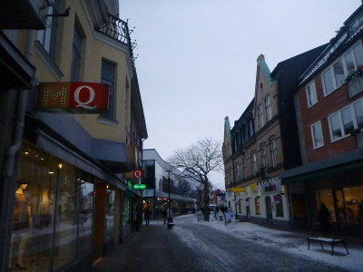 Downtown Angelholm, the town's pedestrian street.