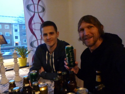 Reunited with Daniel for more beers in Angelholm, Sweden!