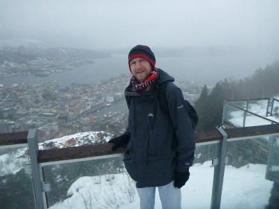 Enjoying the view from Mount Floy