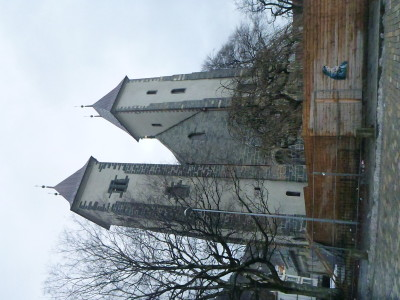 St. Mary's Church on its side (un-turnable!)