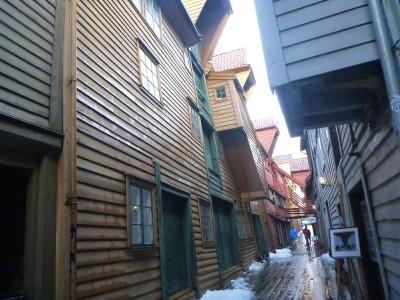 Bryggen World Heritage site in Bergen