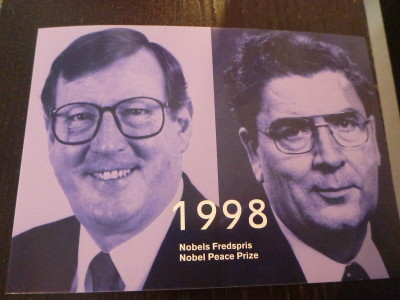 Northern Irish Nobel Peace Prize Winners - David Trimble and John Hume, 1998