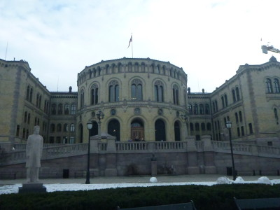 Norwegian Parliament buildings, Oslo.