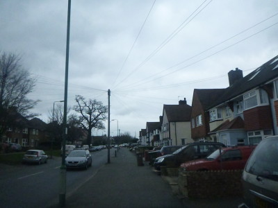 Green Wrythe Lane in Carshalton, London, England. ON the right hand side you will find the Empire of Austenasia.