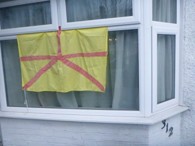 The flying of the Austenasia Flag in Wrythe