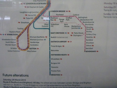 Train routes to Carshalton, England