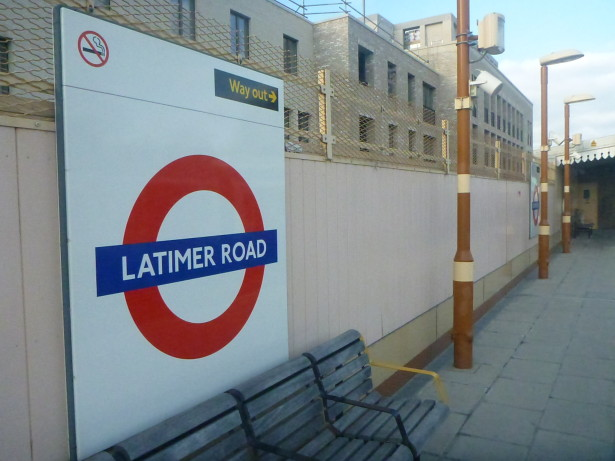 Latimer Road station - the nearest tube to what was once the Republic of Frestonia.