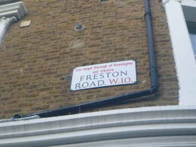 Freston Road, where the republic of Frestonia once was.