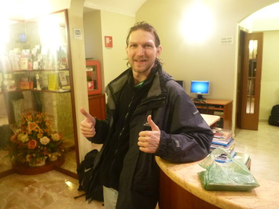 Backpacking in Italy: Staying at the Hotel Papa Germano Hotel in Rome