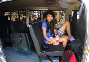 World Travellers: Aileen Adalid preparing for the long ride to a faraway island in the Philippines