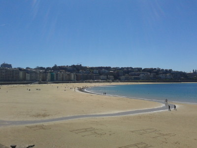 The golden sands of Donostia/San Sebastian