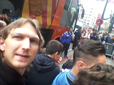 Meeting the Valencia team while backpacking through Bilbao!