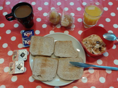 Free breakfast at Akelarre Hostel