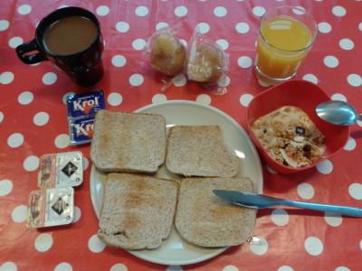 Free breakfast at Akelarre Hostel