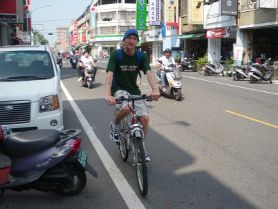 Cycling in Shinying, Taiwan