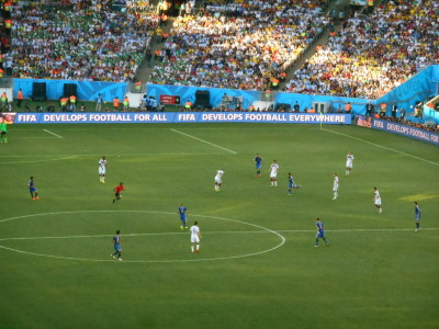 Watching the 2014 World Cup Final in the Maracana Stadium in Brazil