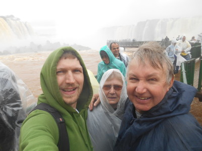 With Mum and Dad at Iguacu