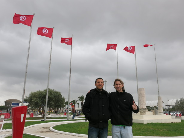 With Ayoub, our Couchsurfing Host