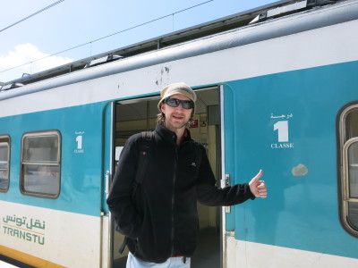 Getting a train in Tunis