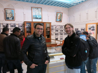 With Wecim touring Habib's mausoleum, museum and shrine.