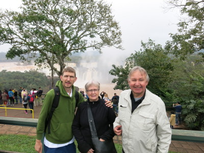 Touring the awesome Iguazu Falls with Mum and Dad in Brazil